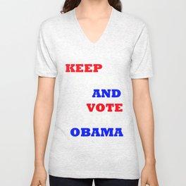 Keep Calm and Vote for Obama Unisex V-Neck