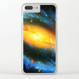 Spiral Galaxy NGC 1300 Clear iPhone Case