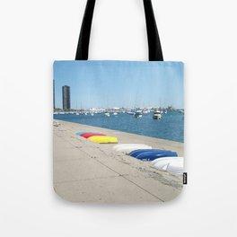 Chicago, Chicago shoreline, Skyline, Lake Michigan Tote Bag