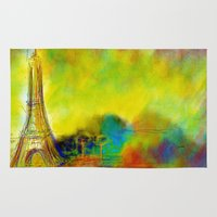 eiffel Area & Throw Rugs featuring Eiffel by Alexandre Reis