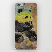 rasta iPhone & iPod Skins featuring Rasta Panda by Michael Creese