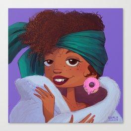 Glam Donut Canvas Print