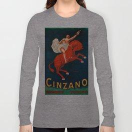 Vintage poster - Cinzano Vermouth Torino Long Sleeve T-shirt