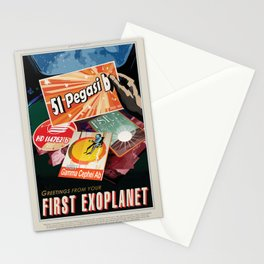 NASA Visions of the Future - Greetings from Your First Exoplanet, 51 Pegasi b Stationery Cards