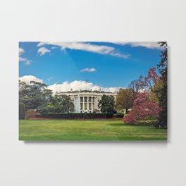 White House in Spring Metal Print