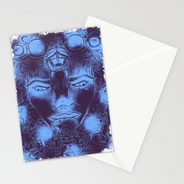 Malek by the tree with Serpent, Blue Stationery Cards