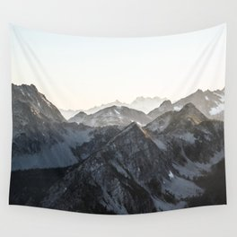 Mountains in Winter Wall Tapestry