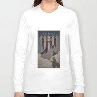 bioshock infinite Long Sleeve T-shirts featuring Bioshock Infinite - One Nation Over God by s2lart