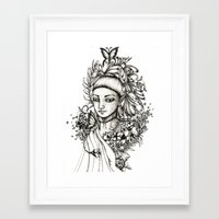 fairy Framed Art Prints featuring Fairy by Anca Chelaru