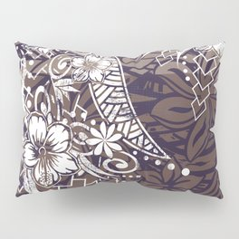 Polynesian Tribal Tapa Threads Pillow Sham