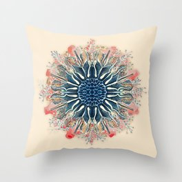 Ernst Haeckel Spiraling Throw Pillow