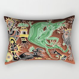 dancing geckos Rectangular Pillow
