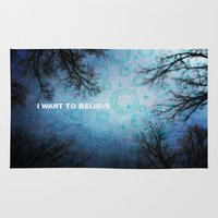 i want to believe Area & Throw Rugs featuring I want to believe... by Julia Kovtunyak