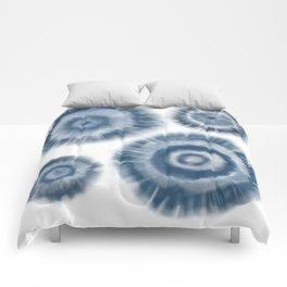 Shibori Tie-Die Water Drops Comforters