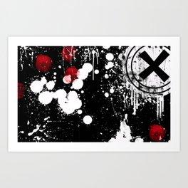 Splattered Art Print