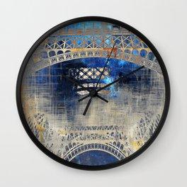 Blue Night in Paris Wall Clock