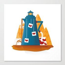 Tea Lighthouse Canvas Print