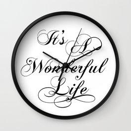 It's A Wonderful Life Wall Clock