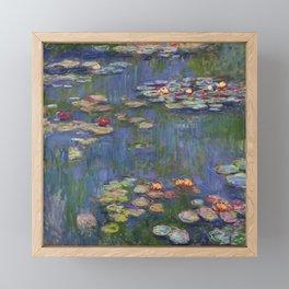 """Claude Monet """"Water lilies"""" (12) Framed Mini Art Print"""
