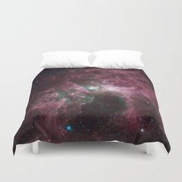 Abstract Purple Space Image Duvet Cover