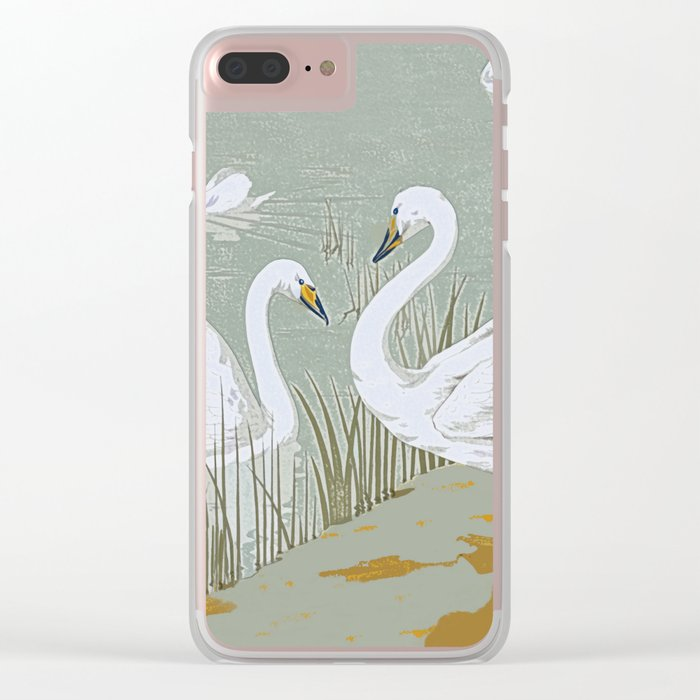Swan song Clear iPhone Case