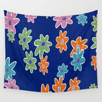 flower pattern Wall Tapestries featuring Flower Pattern by Fine2art
