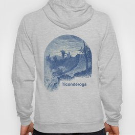 Lower Falls, Ticonderoga (cyan) Hoody