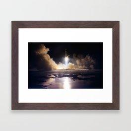 Apollo 17 - Night Launch Framed Art Print