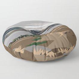 Cass Bay, New Zealand Floor Pillow