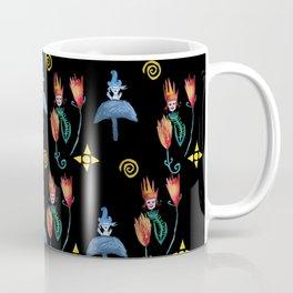 Summer Mushroom Dwarfs Flowers Coffee Mug