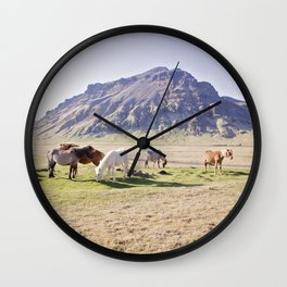 Colorful Horse Photograph Wall Clock