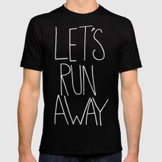 Let's Run Away x Arcadia Beach Mens Fitted Tee MEDIUM Black