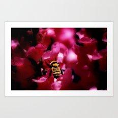 Busy Bumblebee Art Print