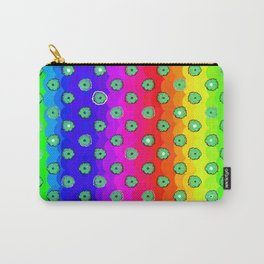 Rainbow and green flowers Carry-All Pouch