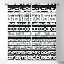 Boho Aztec Inspired Pattern Blackout Curtain