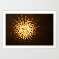 chandelier Art Prints featuring Chandelier by Michelle Capobianco