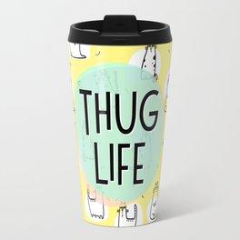 Cat Thug Life - funny cat illustration Travel Mug