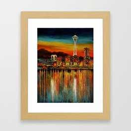 Seattle from Alki Framed Art Print