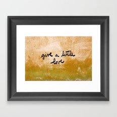 Give a little love Framed Art Print