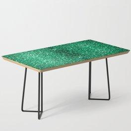 Beautiful Emerald Green glitter sparkles Coffee Table