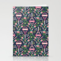 tennis Stationery Cards featuring Tennis by Laura Mayes