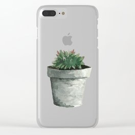 House Plant V Clear iPhone Case