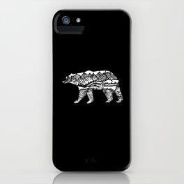 Bear Necessities in Black iPhone Case
