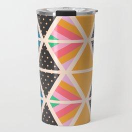 Triangle collage Travel Mug