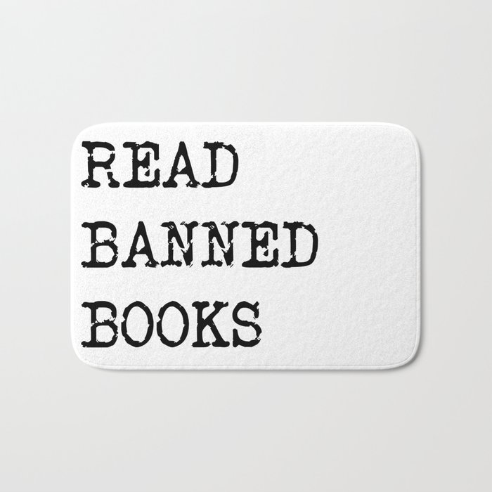 Read Banned Books Bath Mat