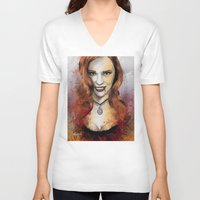 blood V-neck T-shirts featuring Oh My Jessica - True Blood by Fresh Doodle - JP Valderrama