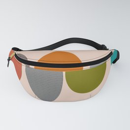 Mid-Century Modern Ovals Abstract Fanny Pack