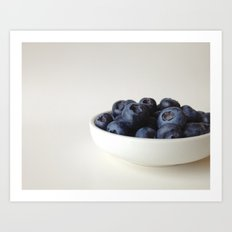 Fresh Blueberries (version 1) Art Print