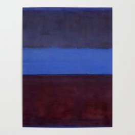 No.61 Rust and Blue 1953 by Mark Rothko Poster