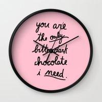 BITTER DARK CHOCOLATE Wall Clock